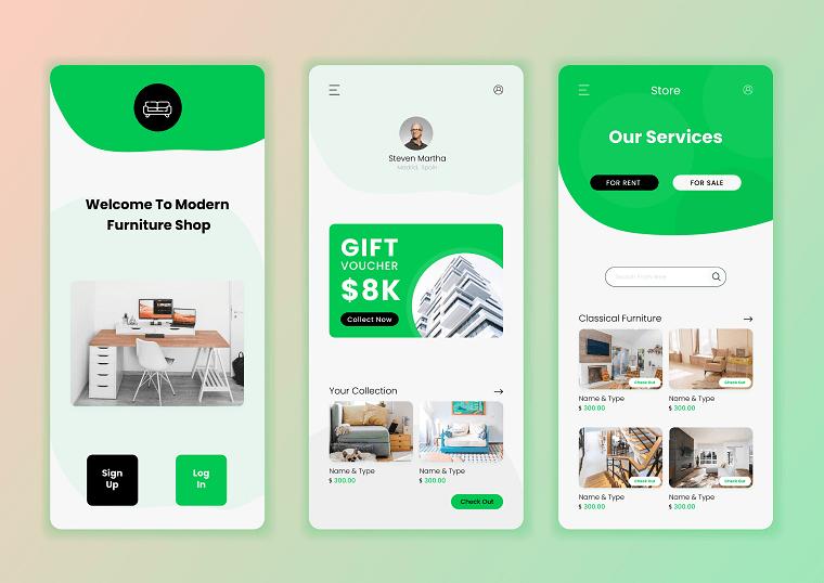 лаконічний дизайн сайту
